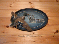 165 cabin Tail Feathers plaque